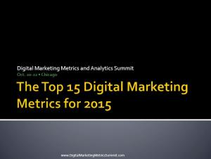 The definitive guide to the top 15 Digital Marketing Metrics for 2015