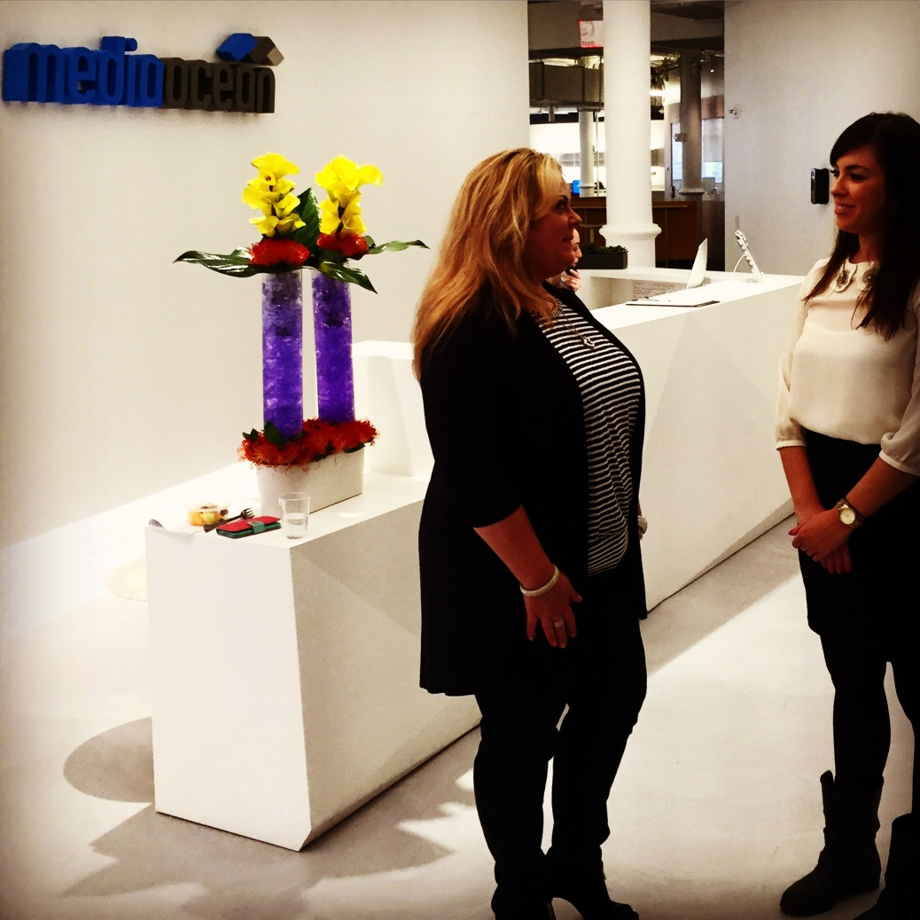 Stephanie Dorman, VP of Support and Training at Media Ocean, and me at their Chelsea offices.